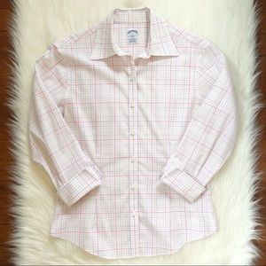 Brooks Brothers Pastel Plaid Pattern Button Down
